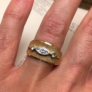Vintage Silver & Gold Ring